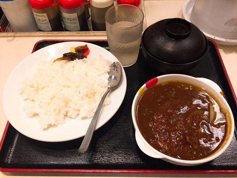 松屋-漢堡肉咖哩