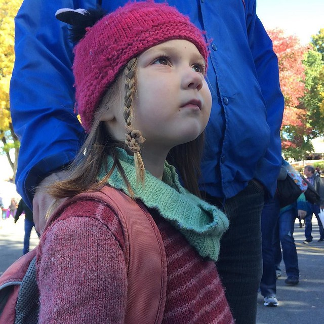 Wool loving girl, listening to pan flutes with daddy :) #latergram