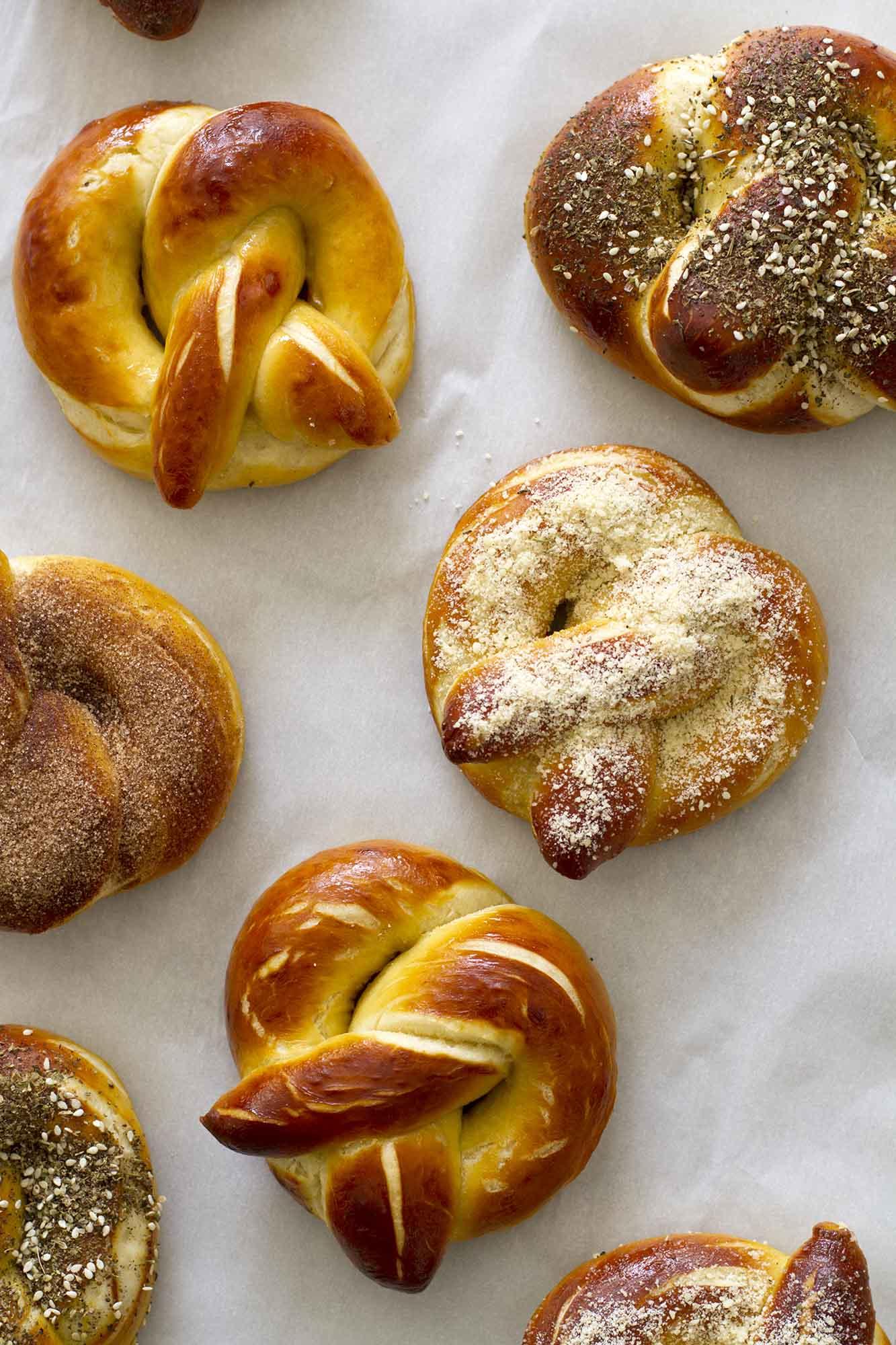 Homemade Soft Pretzels, Three Ways | girlversusdough.com @girlversusdough
