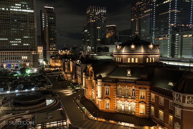 キッテから撮影した東京駅