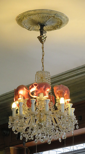 A 'Pink Elephant' Chandelier in Brussels Belgium