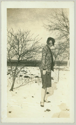 Posing in the snow