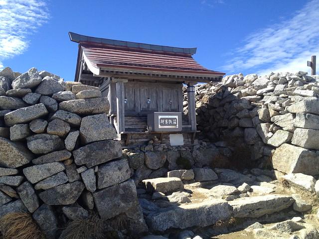 木曽駒ヶ岳 山頂 那駒ヶ嶽神社