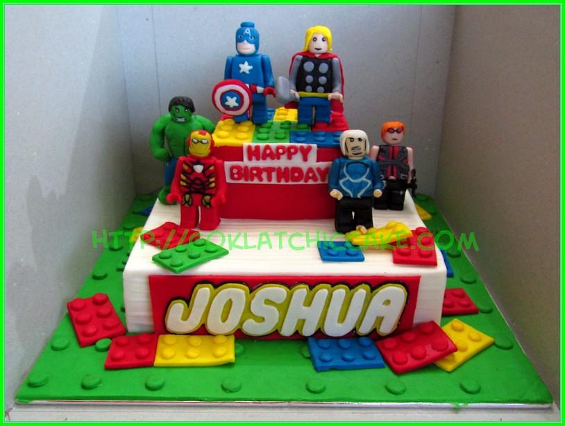 Cake Lego Avengers Joshua Jual Kue Ulang Tahun
