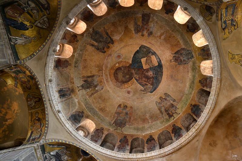 Cúpula del Katholikón con Cristo Pantocrator