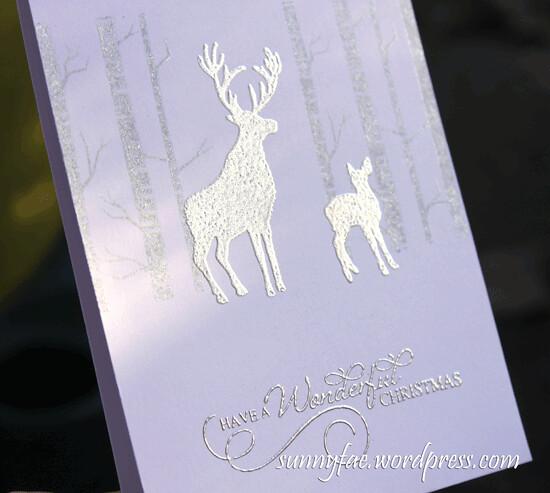 deer christmas card close up
