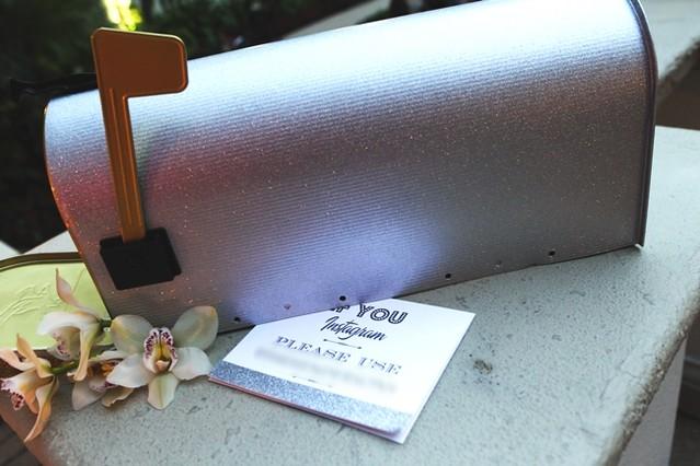 Silver Glitter Mailbox by TheBusBox