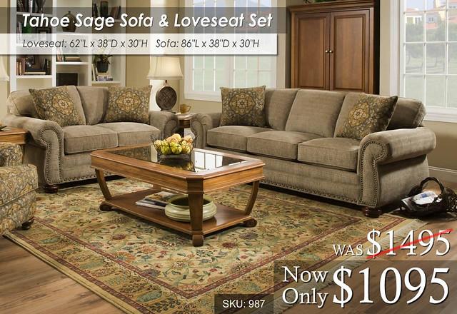 Corinthian Tahoe Living Set 987_Sage