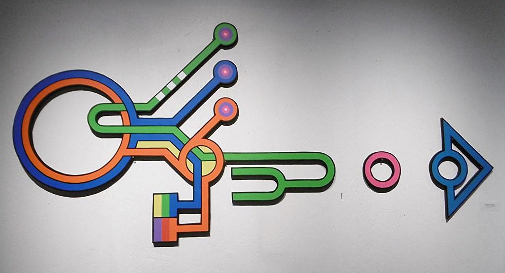 Ondes de Moreton acrylique sur bois 140x100 cm 2016 Photo: Dominique Dasse