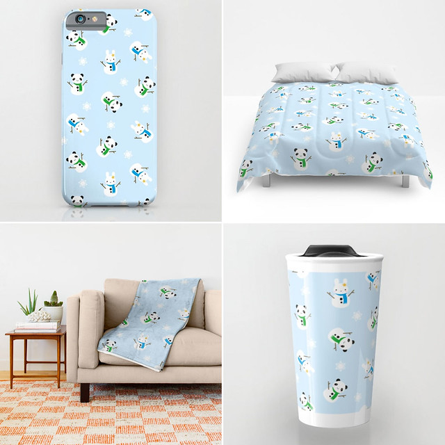 Snow Bunnies & Snow Pandas at Society6