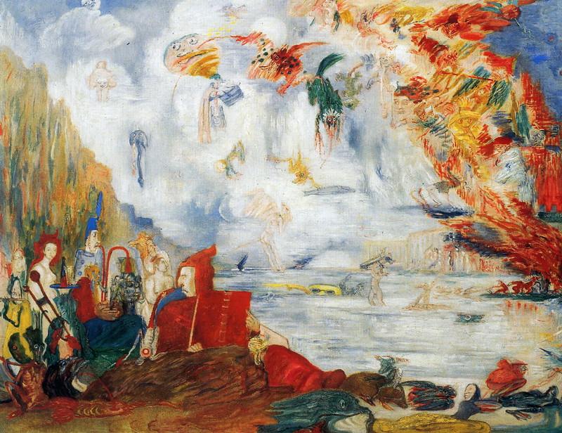 James Ensor - Tribulations of Saint Anthony, 1909
