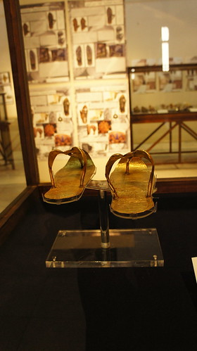 King's Tut golden sandals