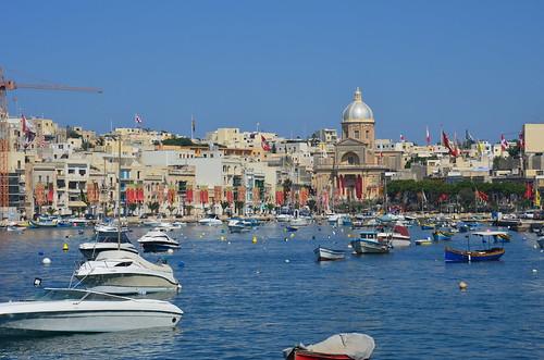 Boote im Hafen von Vittoriosa