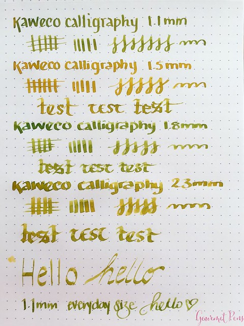 Video Review Kaweco Calligraphy Set - White @JetPens 3
