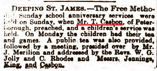 Stamford Mercury 7Jul1905 T Casbon Preaches Deeping St James