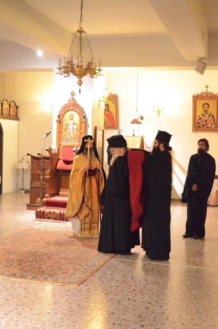 Aγρυπνία για την εορτή της μνήμης  του Οσίου Πορφύριου του Καυσοκαλυβίτου