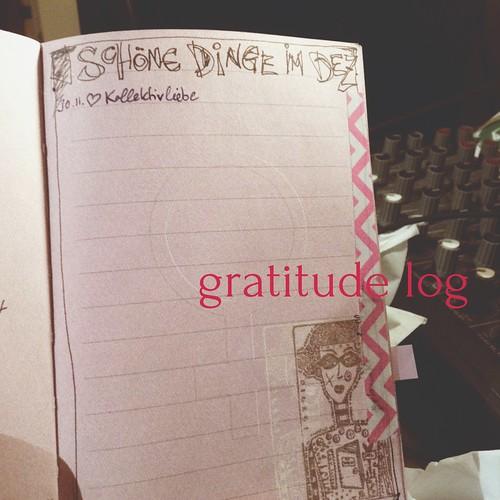 gratitude log december