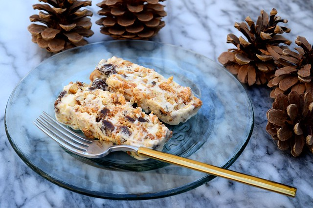 Easy Honey, Walnut & Amaretti Ice Cream Terrine | www.rachelphipps.com @rachelphipps