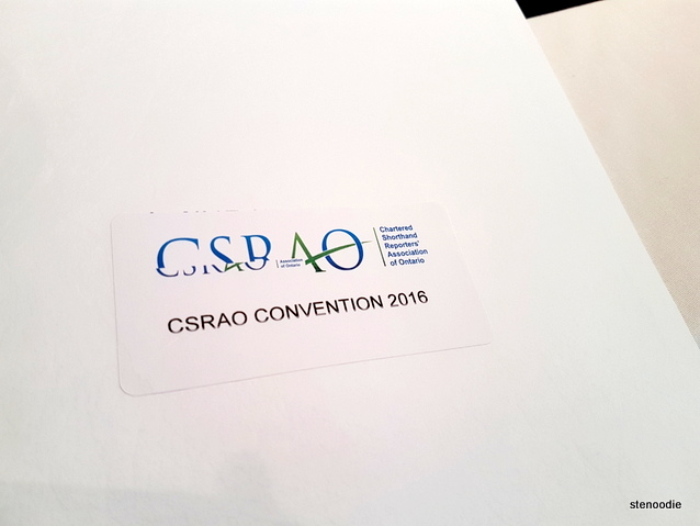 CSRAO Convention 2016