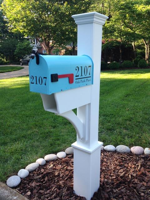 Aqua Painted Mailbox by TheBusBox