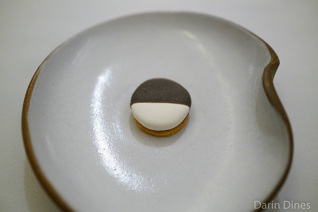 Black and White savory cookie with apple and cheddar