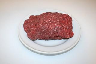 01 - Zutat Hackfleisch / Ingredient grond meat