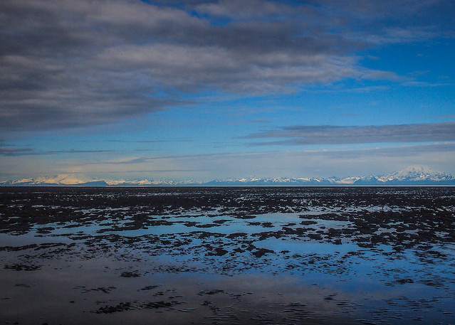 Looking across the Cook Inlet