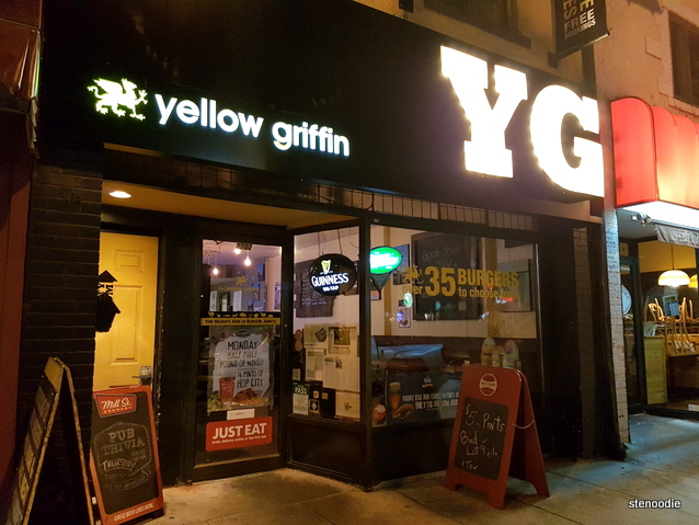 Yellow Griffin Pub storefront