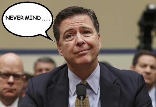 James Comey: 'Oops!'