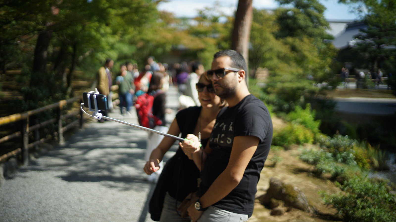 Hold onto your dick when you use your selfie stick. #Kyoto #kinkakujii #Voigtlander40mm #SonyA7 #foto #japan15