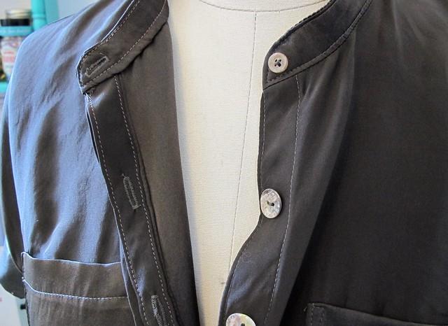 Mélilot shirt- hidden placket detail