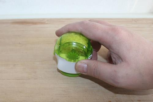 17 - Knoblauch zerkleinern / Shred garlic
