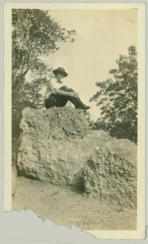 Out sitting on a rock