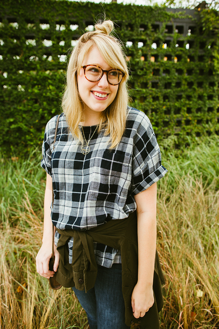 writes like a girl madewell emporia plaid shirt fall outfit8