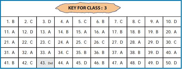 UCO answer key for class 3