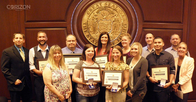 Idaho team members receive lifesaving award from Department of Correction