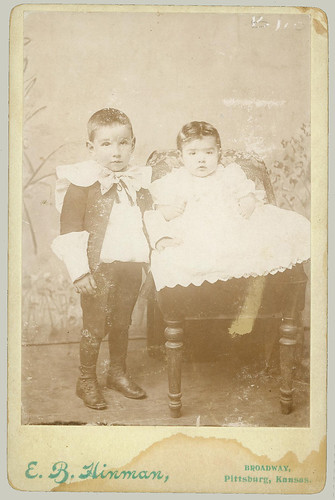 Cabinet Card Two small children