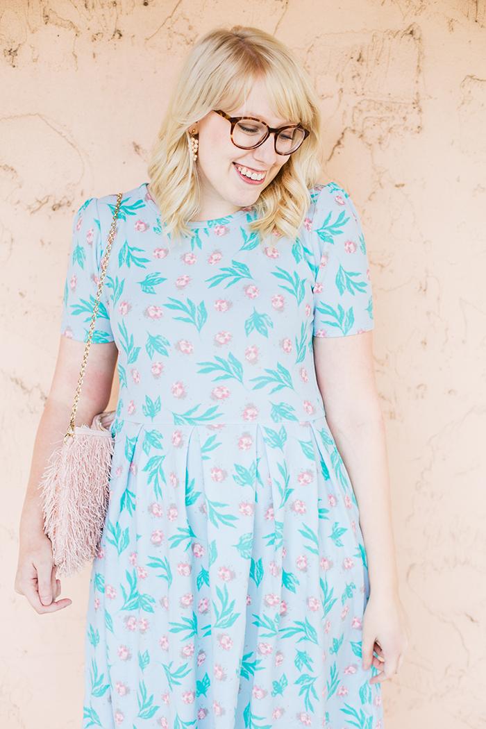 writes like a girl lularoe amelia ladybug dress12