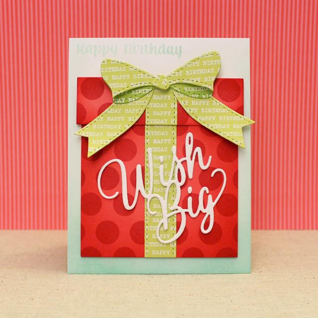 Wish Big Gift Box Card
