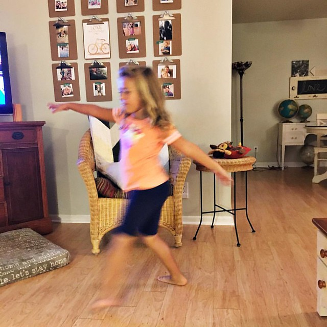 Blurry because she is dancing! #missz