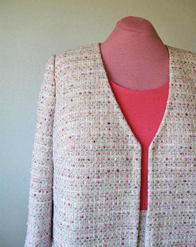 boucle suit jacket front