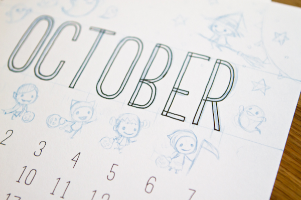 2017 Calendar wip shots
