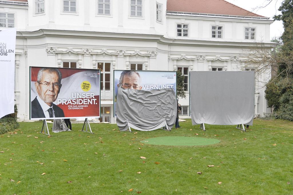 Präsentation Wahlplakate Van der Bellen #bpw16 #vdb