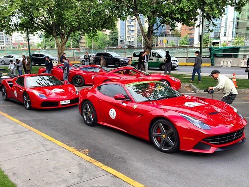 Largada Primer Incontro Ferrari - Santiago, Chile