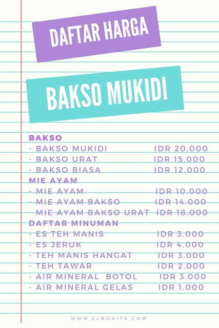 Bakso Mukidi IDR 20.0001⁄2 cup butter2 eggs3⁄4 cup sugar1 cup milk1⁄2 tsp salt2 tsp baking powder1 tsp vanilla