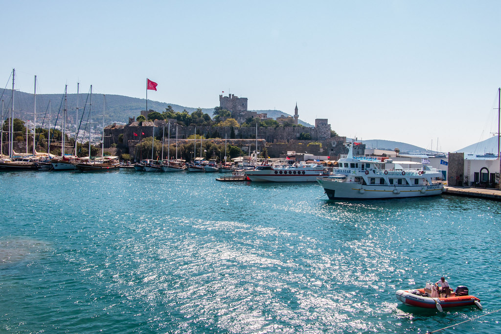 Bodrum harbor and fortress