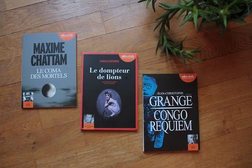 Le coma des mortels de Maxime Chattam / Le dompteur de lions de Camilla Läckberg / Congo Requiem de Jean-Christophe Grangé