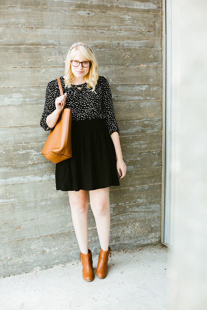 writes like a girl black and cognac fall outfit old navy5