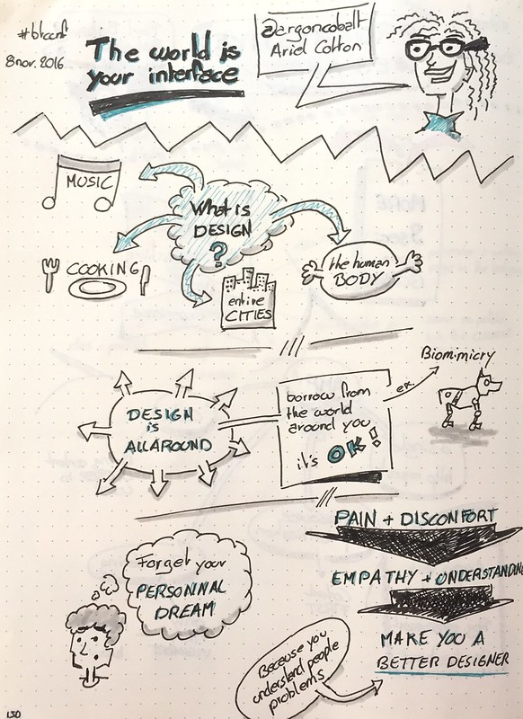 "Mes sketchnote de ""The world is your interface"" (partie 1 sur 2)"