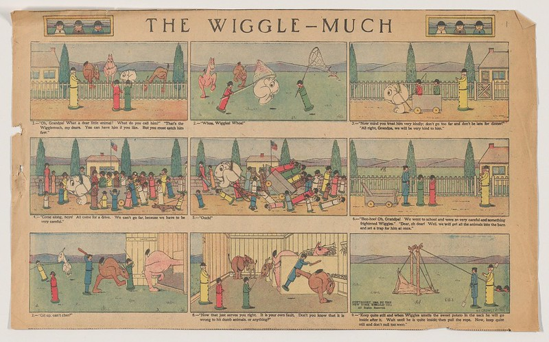 "Herbert E. Crowley - ""The Wiggle Much"" Comic Strip, No. 1 (published in The New York Herald, March 20, 1910)"